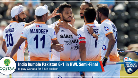 Hockey World League: India 6-1 against Pakistan in fourth quarter