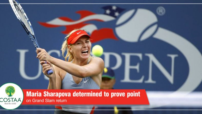 Maria Sharapova determined to prove point on Grand Slam return